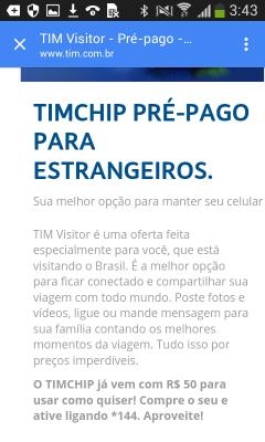 tim visitor prepaid prepago vagamundo361 timchip estrangeiros