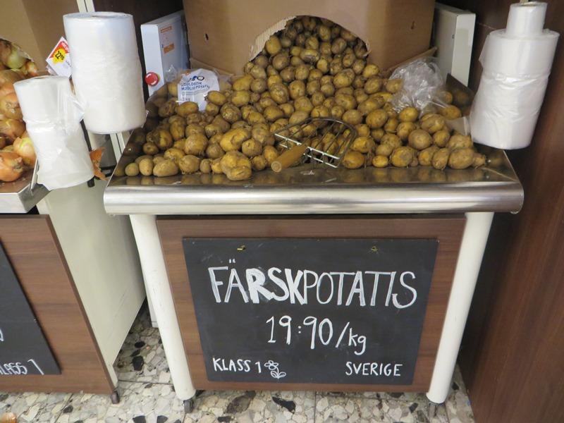 Preise in Schweden für Kartoffeln - Vagamundo 361°