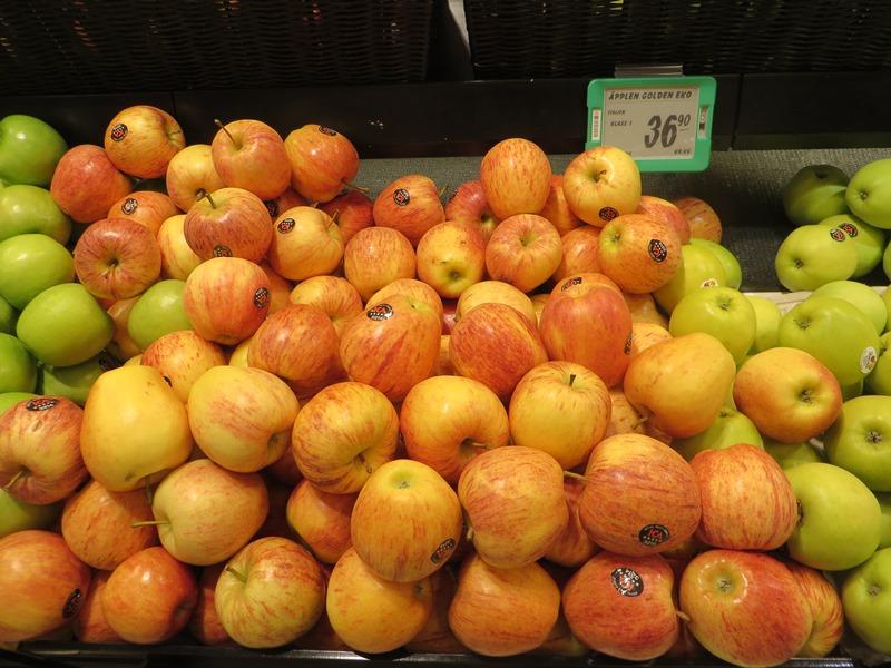 Preise in Schweden für Äpfel - Vagamundo 361°