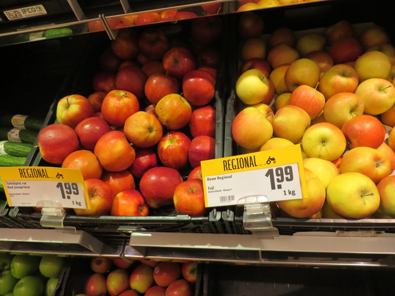 Preise in Deutschland für Äpfel - Vagamundo 361°