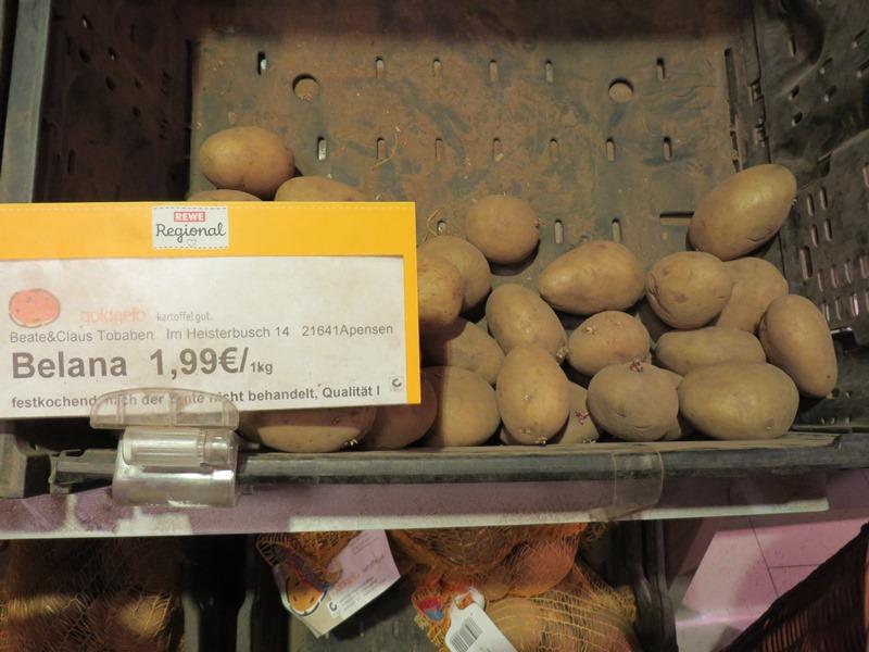 Preise in Deutschland für Kartoffeln - Vagamundo 361°