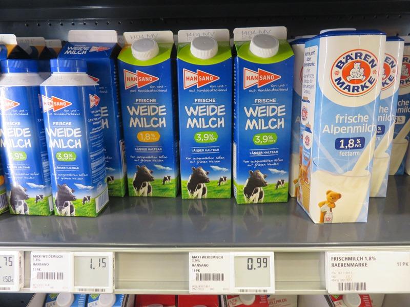 Preise in Deutschland für Milch - Vagamundo 361°