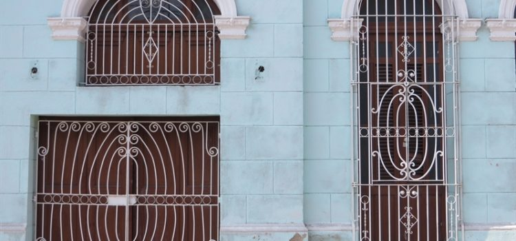 cuba facade house window doo