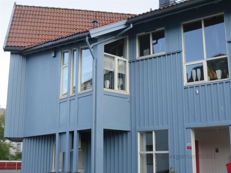Blaues Haus in Norwegen