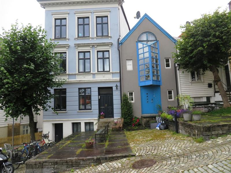Blaues Haus in Bergen